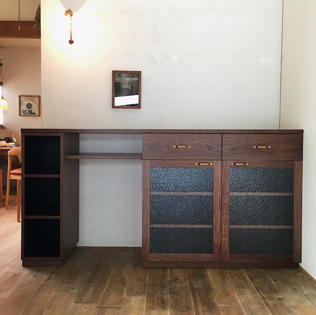 キッチン収納 ウォールナット