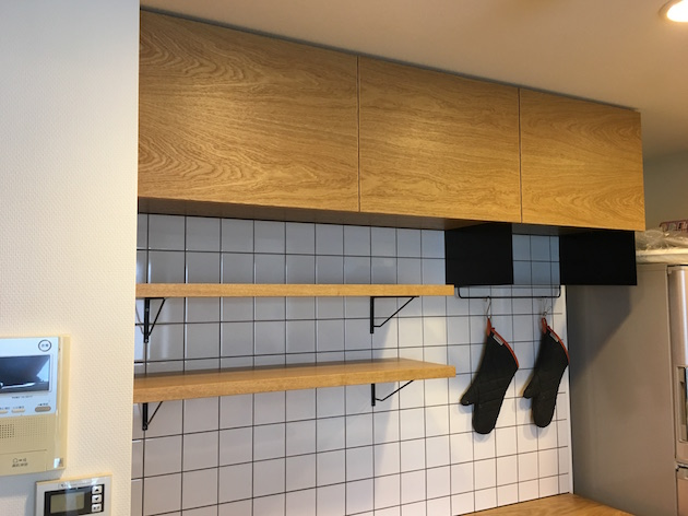 キッチン収納 ナラ