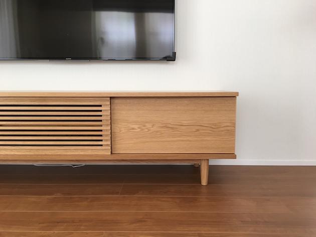 TVボード ナラ材