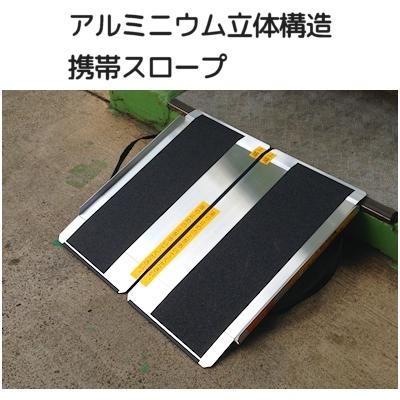 アルミニウム立体構造 携帯スロープ