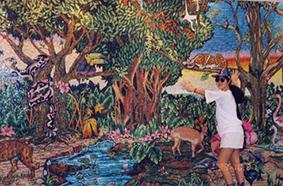 若かりし頃メキシコで見たモザイク壁画