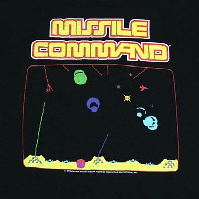 ATARI MISSILE COMMAND ゲームステージ Tシャツ-2