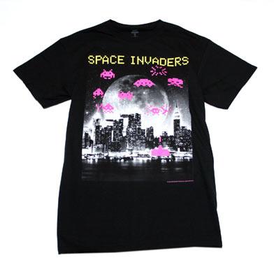 スペース インベーダー 摩天楼Tシャツ-1