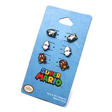 Nintendo スーパーマリオ miniピアスセット-2