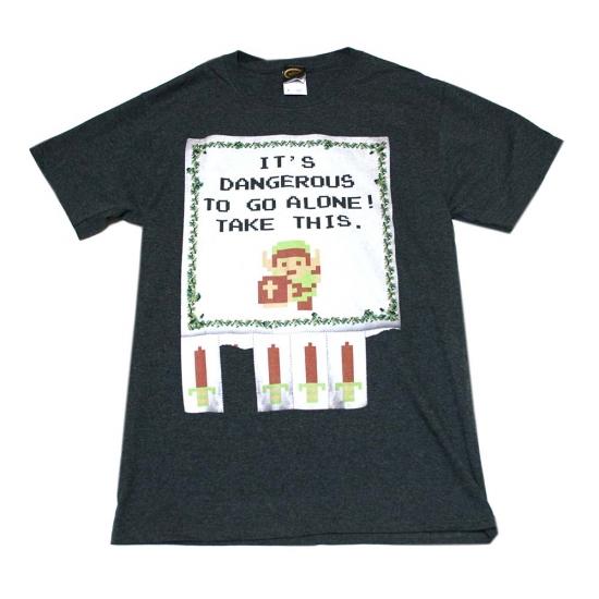 ゼルダの伝説 Tear Off Flyer Tシャツ-1