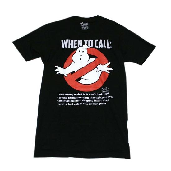 ゴーストバスターズ WHEN TO CALL:Tシャツ-1