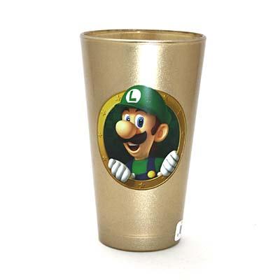 マリオ&ルイージ ゴールド グラス-2