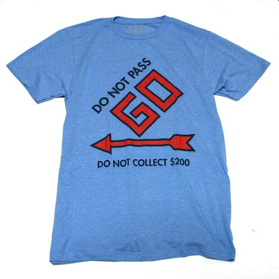 モノポリー DO NOT PASS GO Tシャツ