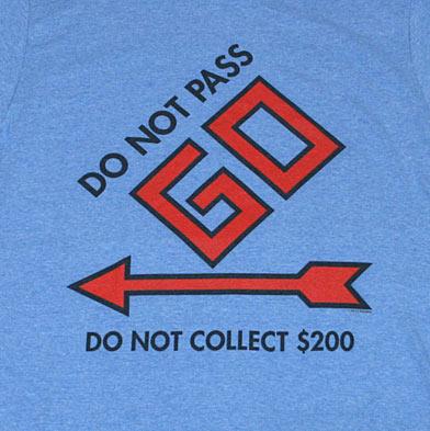 モノポリー DO NOT PASS GO Tシャツ-2