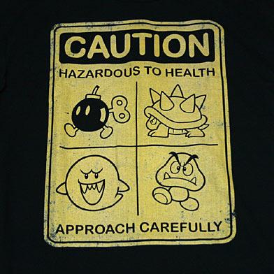 スーパーマリオ CAUTION Tシャツ-2