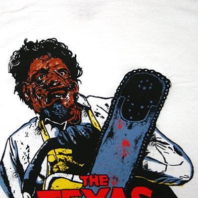 悪魔のいけにえ レザーフェイスTシャツ-2
