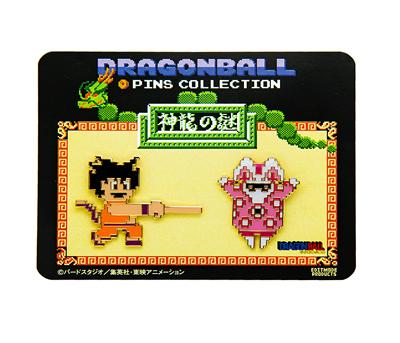 ドラゴンボール 神龍の謎/ピンズセット(B:悟空(如意棒)&兎人参化)-1