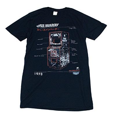 スペース インベーダー アップライト筐体Tシャツ-1