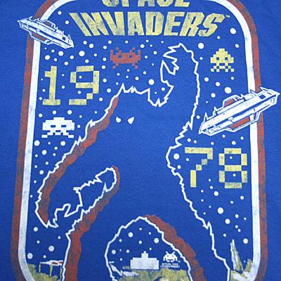 スペース インベーダー SPACE INVADERS1978 Tシャツ-2