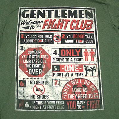 ファイトクラブ The Rules Tシャツ-2