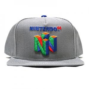 NINTENDO64 スナップバックキャップ(グレー)
