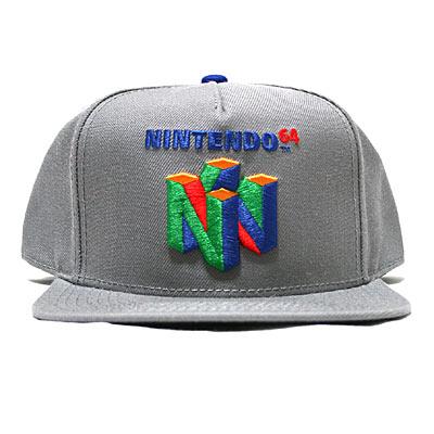 NINTENDO64 スナップバックキャップ(グレー)-1