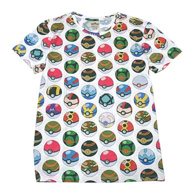ポケモン モンスターボール総柄 Tシャツ
