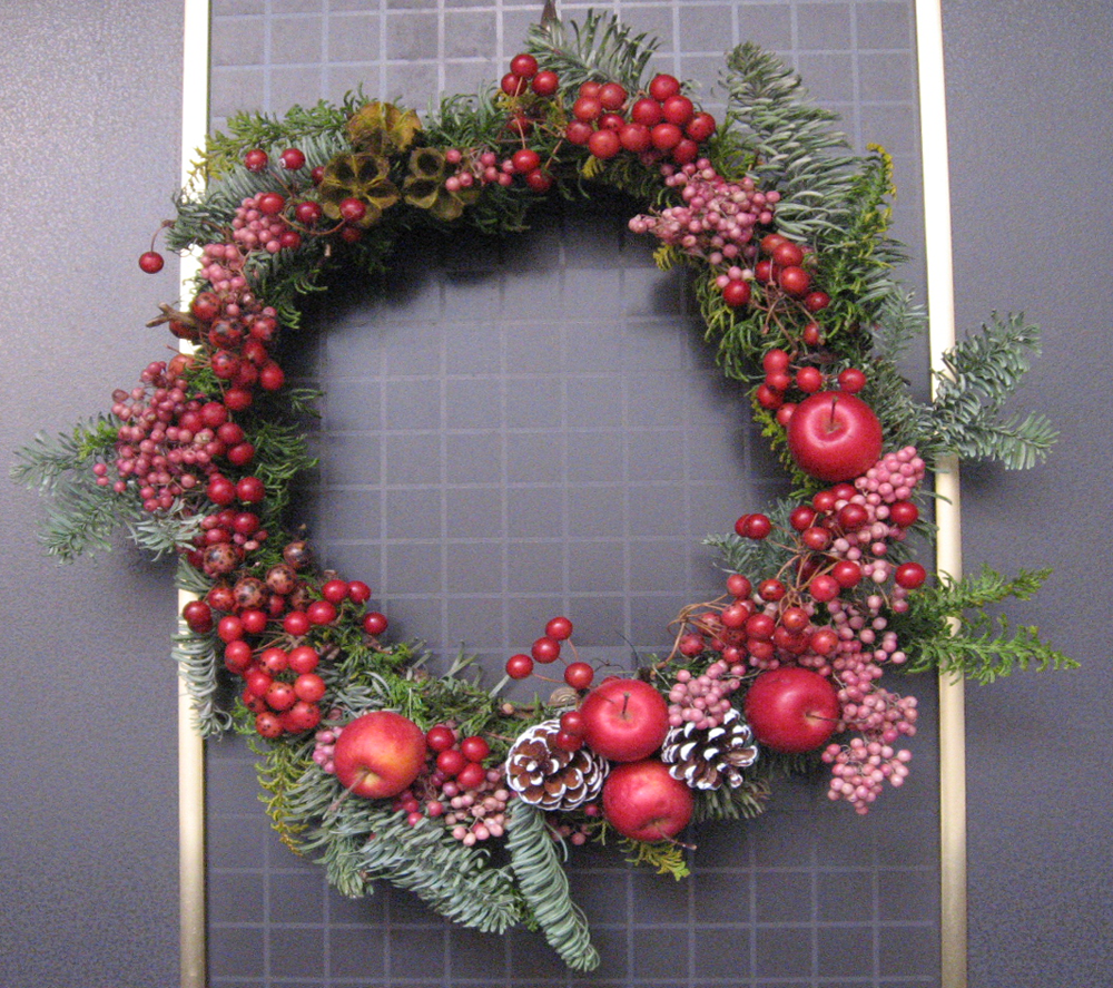 クリスマス・リース 手作り サンキライ