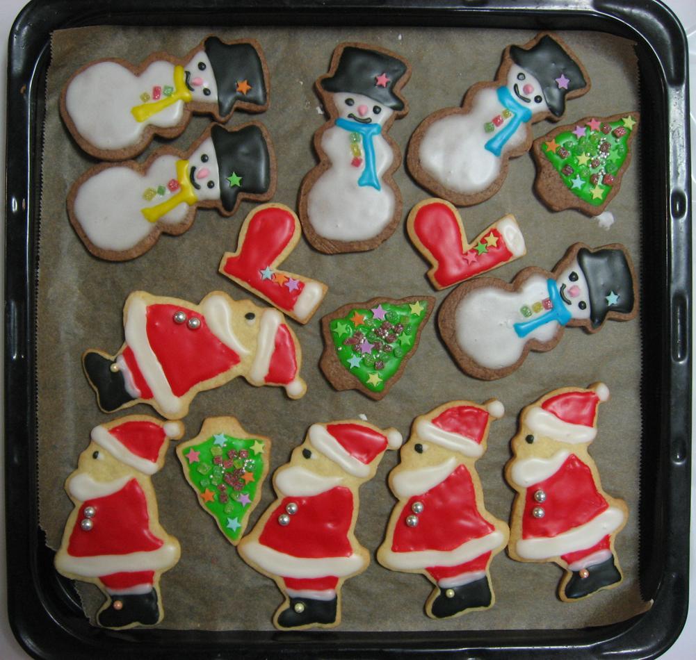 サンタクッキー 雪だるまクッキー