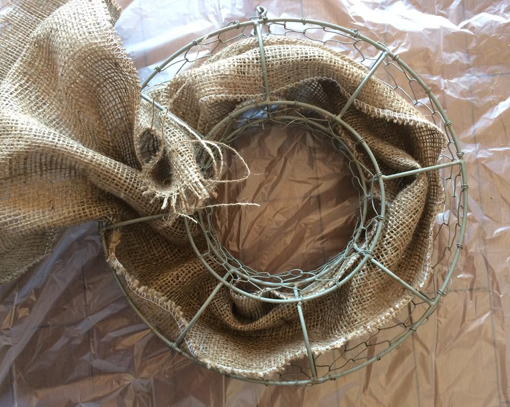 リース型プランター 麻布の敷き方