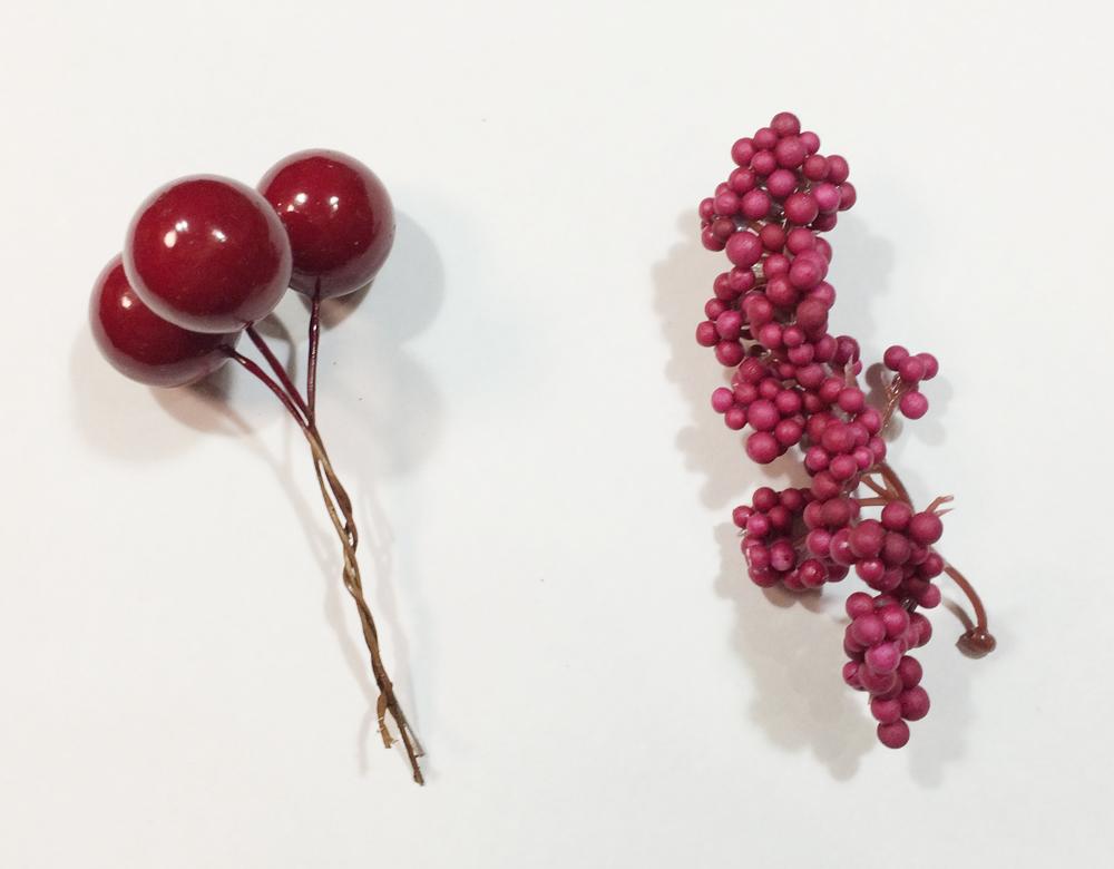 クリスマス デコ素材 赤い実