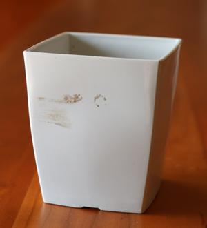 プラスチック 植木鉢 ペイント リメイク