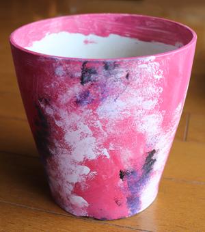 植木鉢 ペインティング ピンク