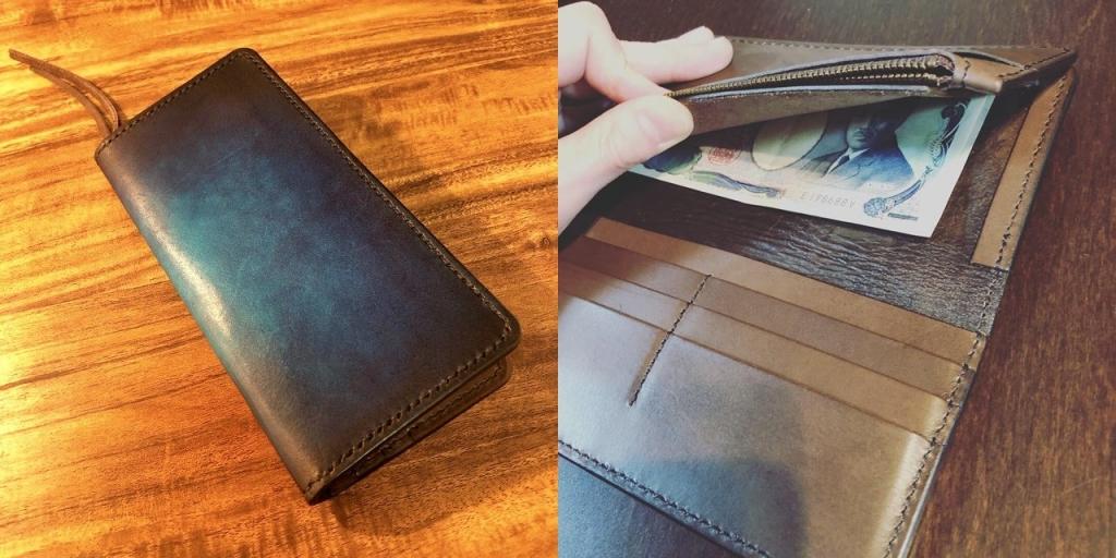 2つ折り長財布の詳細