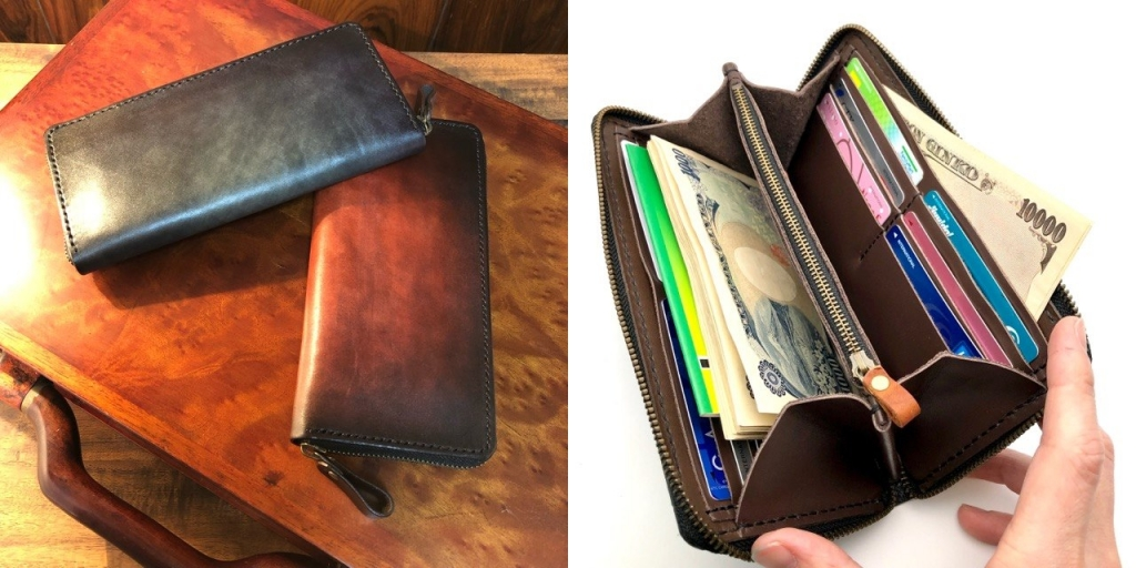 ラウンドファスナー長財布の詳細