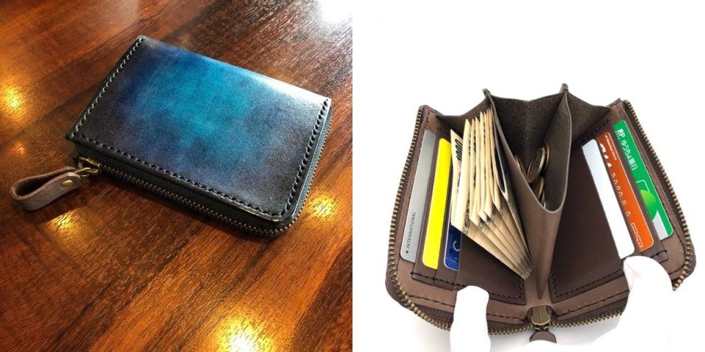 L字ファスナー革財布の詳細