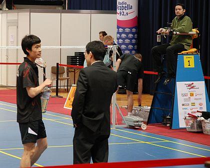 第2戦の平松選手と田中コーチ
