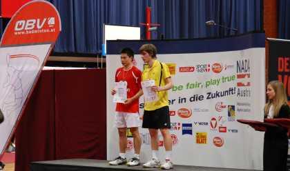 バドミントン2011年オーストリア国際表彰台(HSU Jen Hao. スー・ジェンハオ. 許仁豪選手)