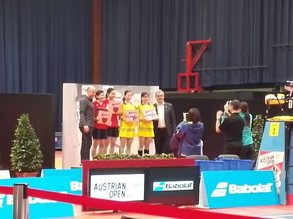 Badmintonオーストリアopen優勝:星千智+中西貴映、準優勝:保原彩夏+曽根夏姫