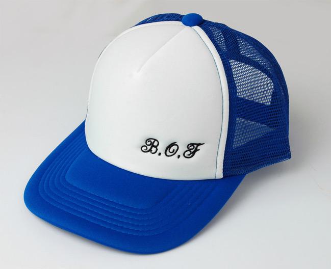帽子に刺繡「BOF様」