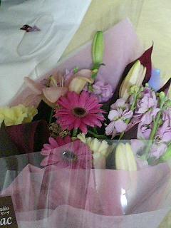 退職時に貰ったお花