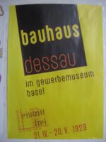 バーゼルのバウハウス巡回展のポスター