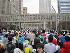東京マラソン2012のスタート前