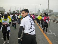 東京マラソン2012のゴール直後