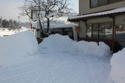 事務所前雪