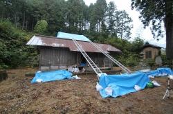 神社本殿屋根修理