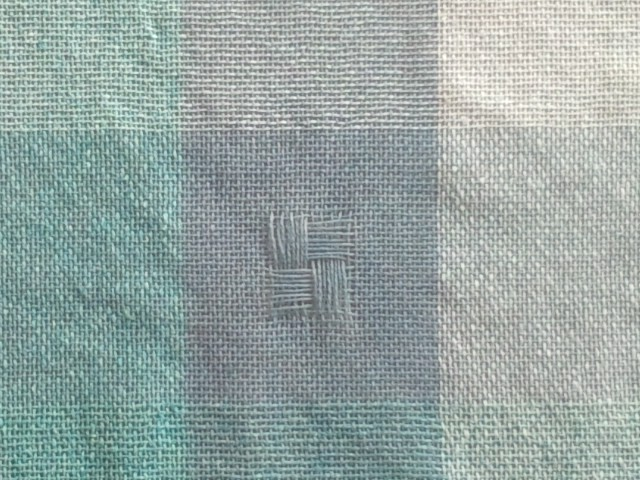 ショール絹×カシミヤ織上がり拡大
