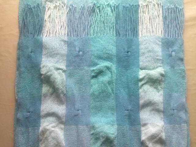ショール絹×カシミヤ縮絨