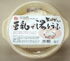 豆乳で湯豆腐