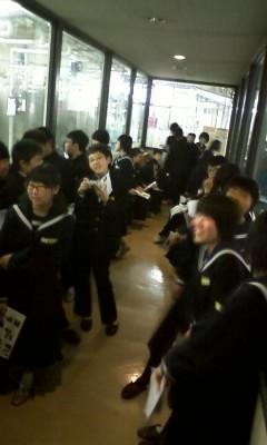 三島中学社会科見学の様子1