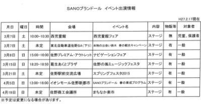 佐野ブランドール出演情報2015.02.17.現在