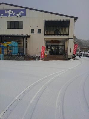 雪積もってしまいました