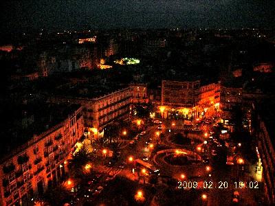 カテドラルの上からバレンシアの夜景