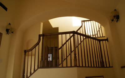 S様邸リビング階段
