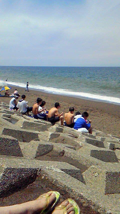 日本海を見ながらお昼